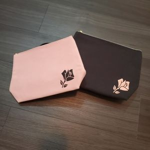 2 New Makeup Lancome Bags in Pink and Black